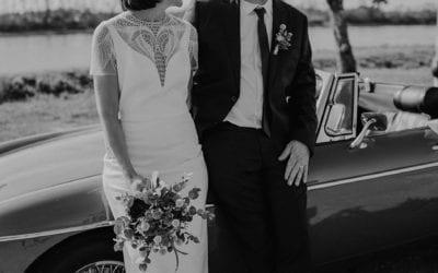Un mariage, une voiture de collection sur Bordeaux
